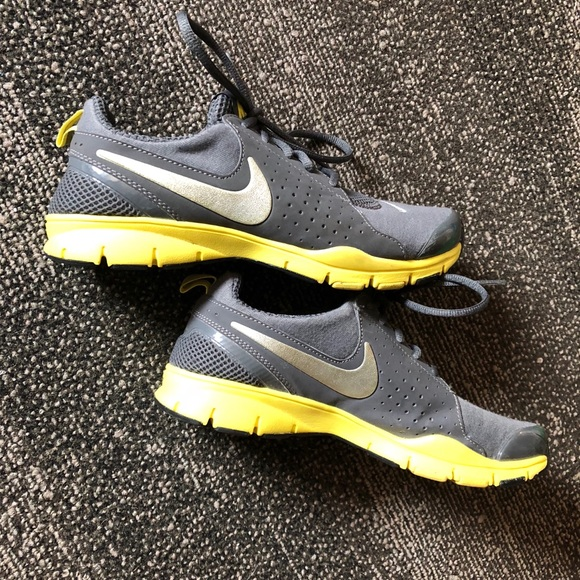 Grey And Yellow Nike Memory Foam